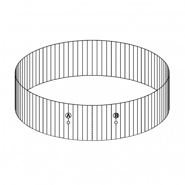 """Bestway® Spare Part P61741 Steel Wall for 10'10""""x33"""" Splasher Pool"""