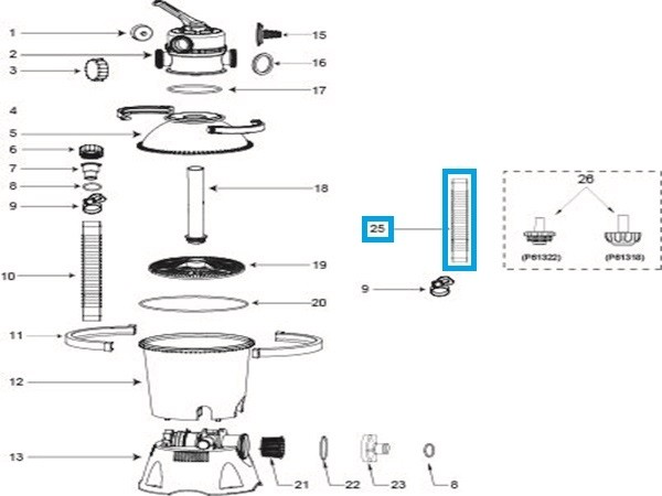 Bestway® Spare Part P6022 32mm Hose 3m for Filter Pump 1.249/2.006/3.028 l/h and Sand Filter Pumpe 2.006/3.785 l/h