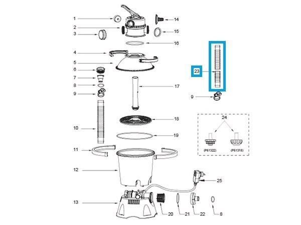 Bestway® Spare Part P6042 32mm Hose 4,5m for Sand Filter Pump 2.006/3785 l/h