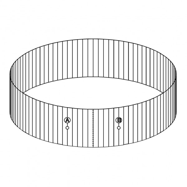 "Bestway® Spare Part P61453 Steel Wall for 12'x48"" Hydrium Pool"